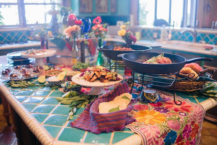 Mexican Food Table from an Alebrije Mexican Folk Art Inspired Baby Shower on Kara's Party Ideas | KarasPartyIdeas.com (11)