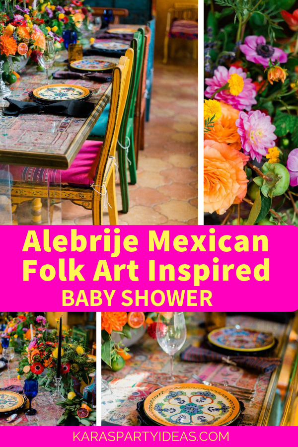 Alebrije Mexican Folk Art Inspired Baby Shower via Kara's Party Ideas - KarasPartyIdeas.com