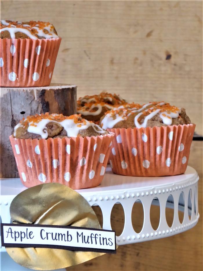 Apple Crumb Muffins from a Rustic Fall Breakfast Bar on Kara's Party Ideas   KarasPartyIdeas.com