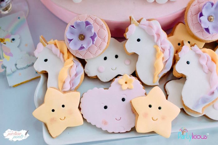 Baby Unicorn-inspired Cookies from a Baby Unicorn 1st Birthday Party on Kara's Party Ideas | KarasPartyIdeas.com (24)