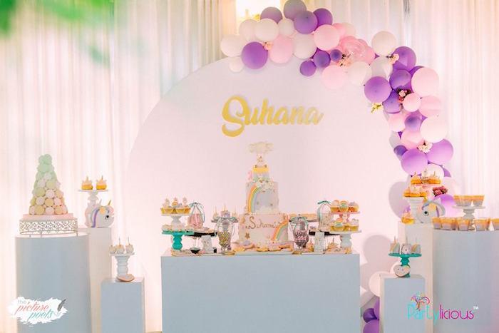 Baby Unicorn 1st Birthday Party on Kara's Party Ideas | KarasPartyIdeas.com (17)