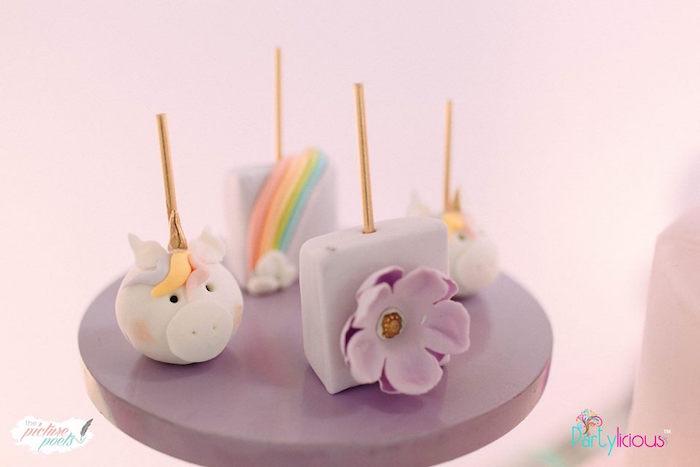 Dessert Pops from a Baby Unicorn 1st Birthday Party on Kara's Party Ideas | KarasPartyIdeas.com (38)