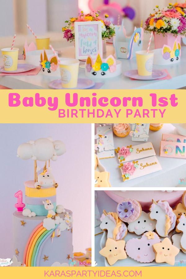 Baby Unicorn Birthday Party via Kara's Party Ideas - KarasPartyIdeas.com