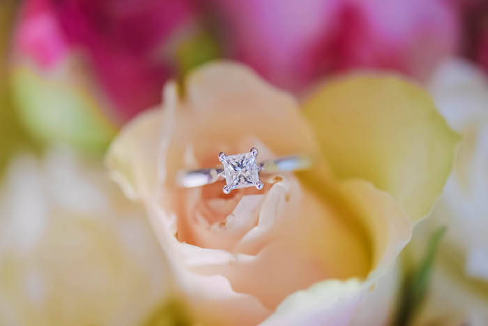 Ring in Rose from a Beautiful Peninsula Wedding on Kara's Party Ideas | KarasPartyIdeas.com (17)