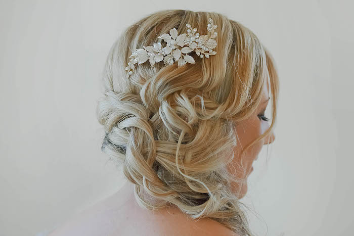 Braided Bridal Hair from a Beautiful Peninsula Wedding on Kara's Party Ideas | KarasPartyIdeas.com (15)