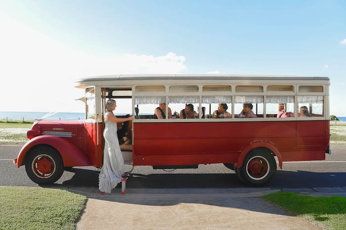 Vintage Taxi from a Beautiful Peninsula Wedding on Kara's Party Ideas | KarasPartyIdeas.com (13)