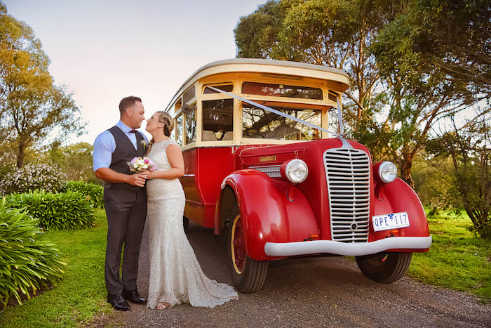 Vintage Taxi from a Beautiful Peninsula Wedding on Kara's Party Ideas | KarasPartyIdeas.com (11)