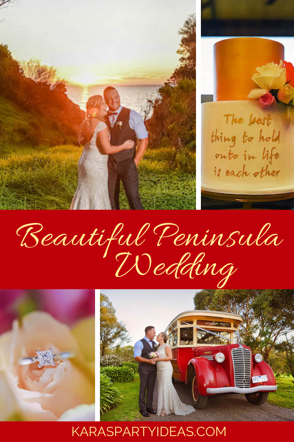 Beautiful Peninsula Wedding via Kara's Party Ideas - KarasPartyIdeas.com