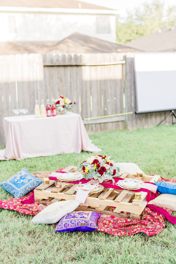 Boho Party Tables from a Boho Chic Friendsgiving Party on Kara's Party Ideas | KarasPartyIdeas.com (22)