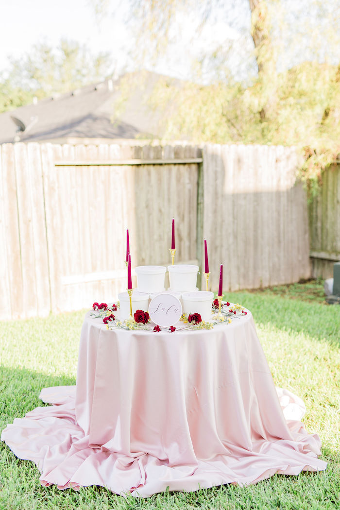 Favor Table from a Boho Chic Friendsgiving Party on Kara's Party Ideas | KarasPartyIdeas.com (18)