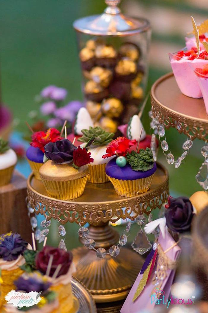 Boho Themed Cupcakes from a Boho Vintage 21st Birthday Party on Kara's Party Ideas | KarasPartyIdeas.com (31)