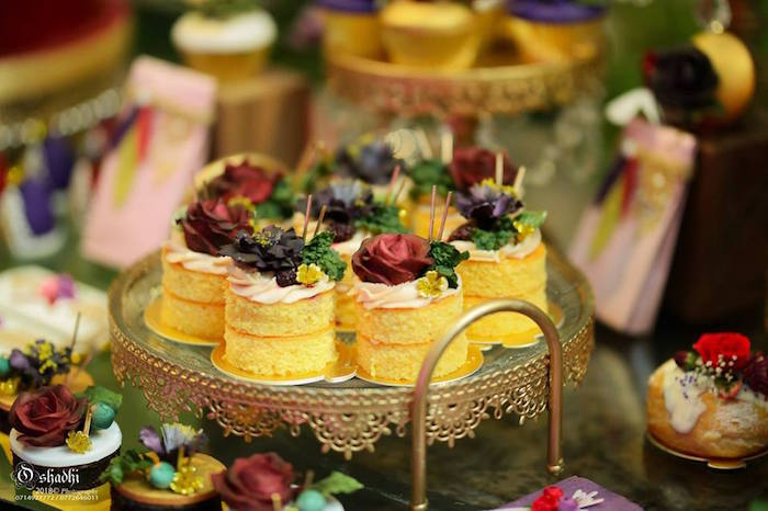 Mini Stacked Boho Cakes from a Boho Vintage 21st Birthday Party on Kara's Party Ideas | KarasPartyIdeas.com (29)