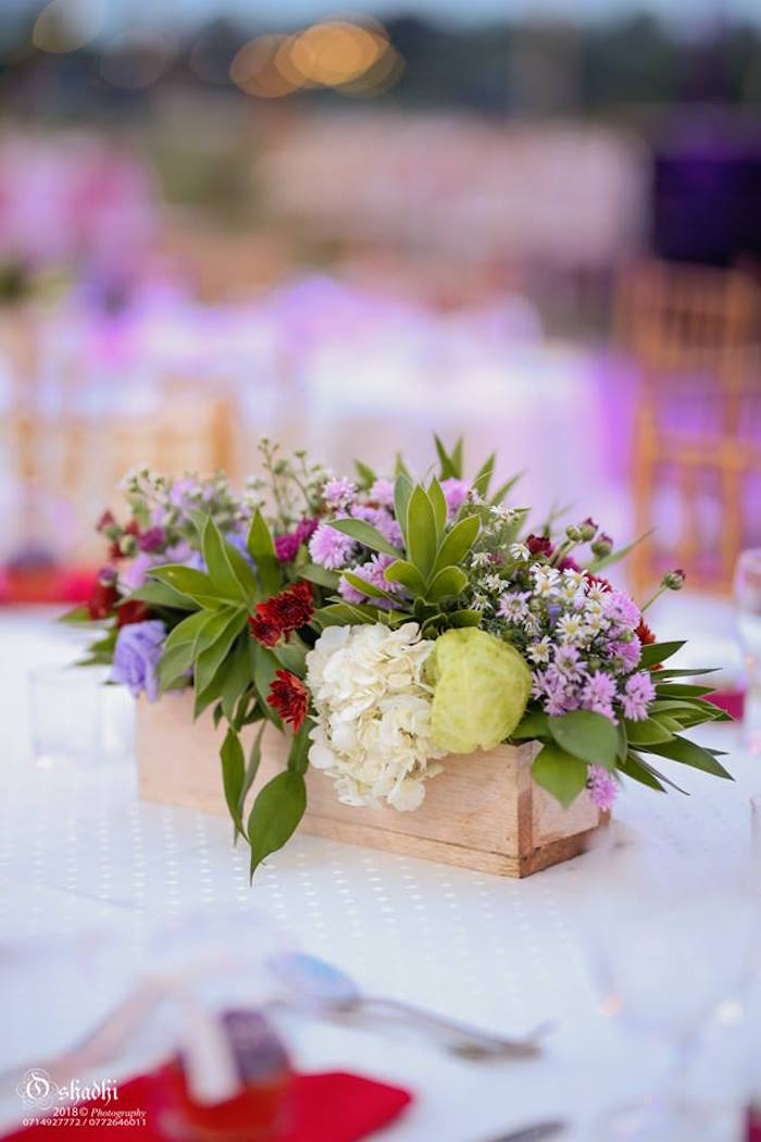 Wood-boxed Floral Table Centerpiece from a Boho Vintage 21st Birthday Party on Kara's Party Ideas | KarasPartyIdeas.com (23)