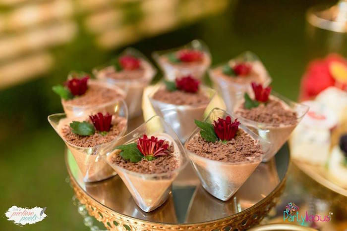Boho Themed Dessert Cups from a Boho Vintage 21st Birthday Party on Kara's Party Ideas | KarasPartyIdeas.com (12)