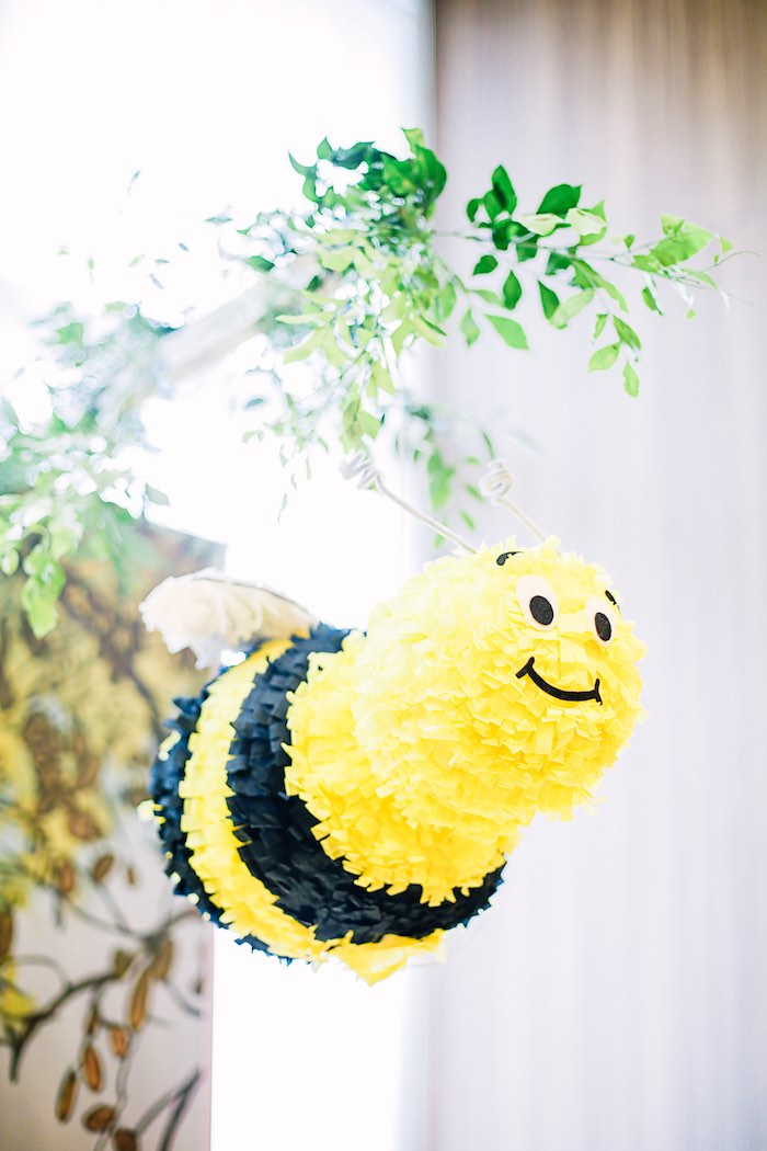 Hanging Bee Decoration from a Christopher Robin + Winnie the Pooh Birthday Party on Kara's Party Ideas | KarasPartyIdeas.com (16)