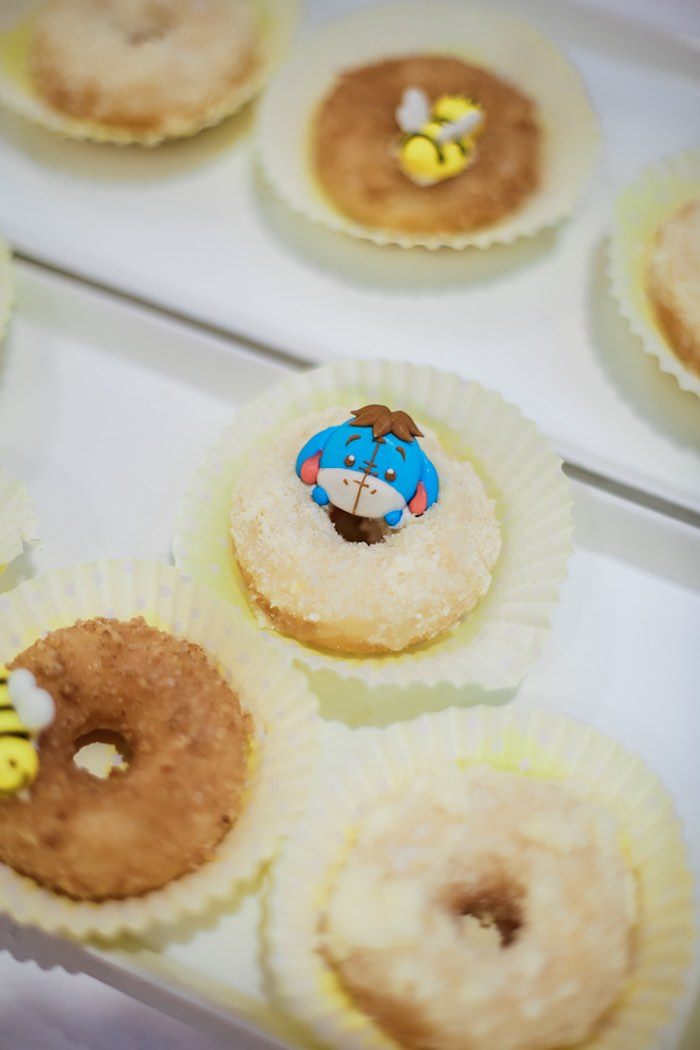 Winnie the Pooh Donuts from a Christopher Robin + Winnie the Pooh Birthday Party on Kara's Party Ideas | KarasPartyIdeas.com (5)
