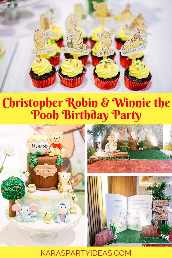 Christopher Robin Winnie The Pooh Birthday Party via Kara's Party Ideas - KarasPartyIdeas.com