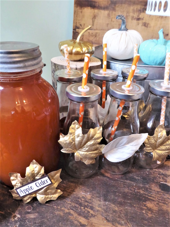 Cider from a Rustic Fall Breakfast Bar on Kara's Party Ideas | KarasPartyIdeas.com