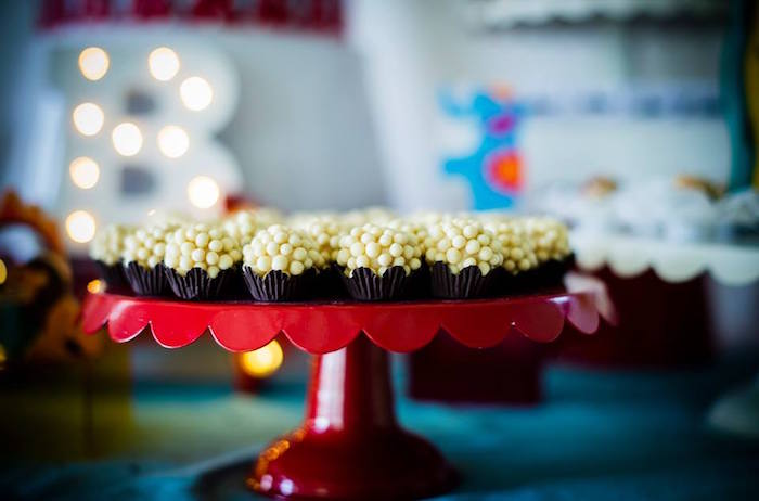 Popcorn Truffles from a Classic Circus Birthday Party on Kara's Party Ideas | KarasPartyIdeas.com (11)