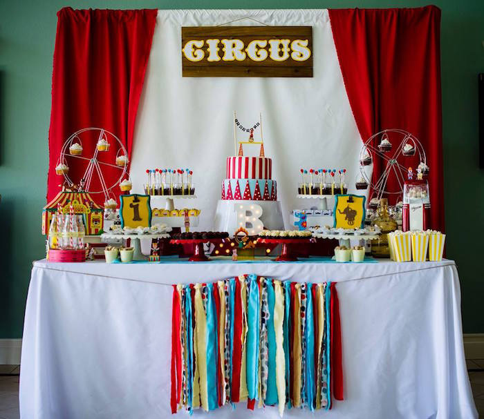 Classic Circus Birthday Party on Kara's Party Ideas | KarasPartyIdeas.com (9)