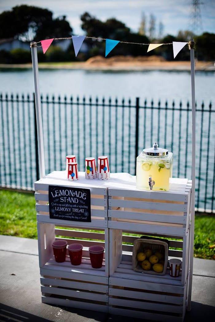Wood Crate Lemonade Stand from a Classic Circus Birthday Party on Kara's Party Ideas | KarasPartyIdeas.com (17)