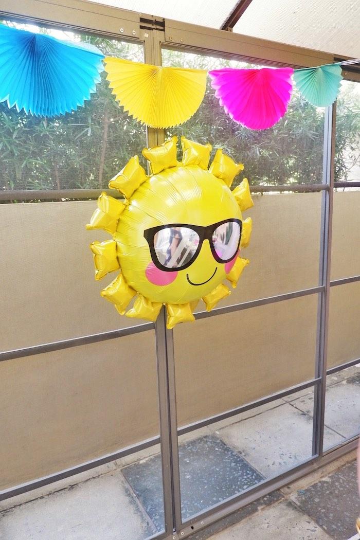 Sun Balloon from a Colorful 1st Birthday Fiesta on Kara's Party Ideas | KarasPartyIdeas.com (24)