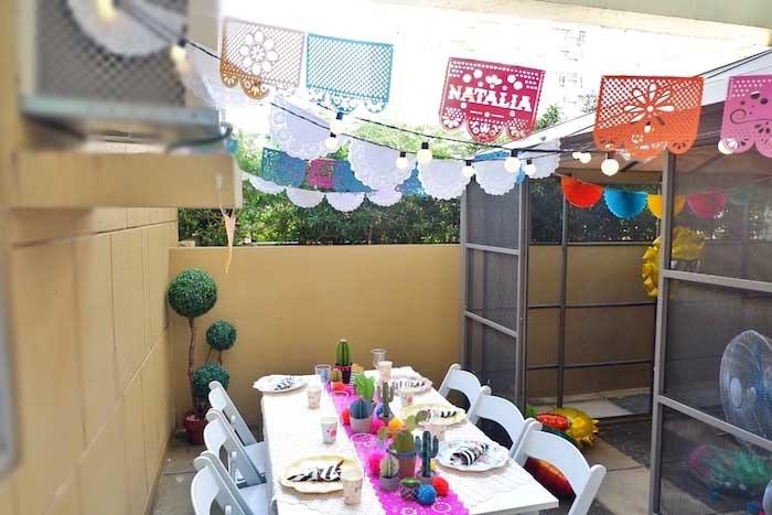 Fiesta Table from a Colorful 1st Birthday Fiesta on Kara's Party Ideas | KarasPartyIdeas.com (23)