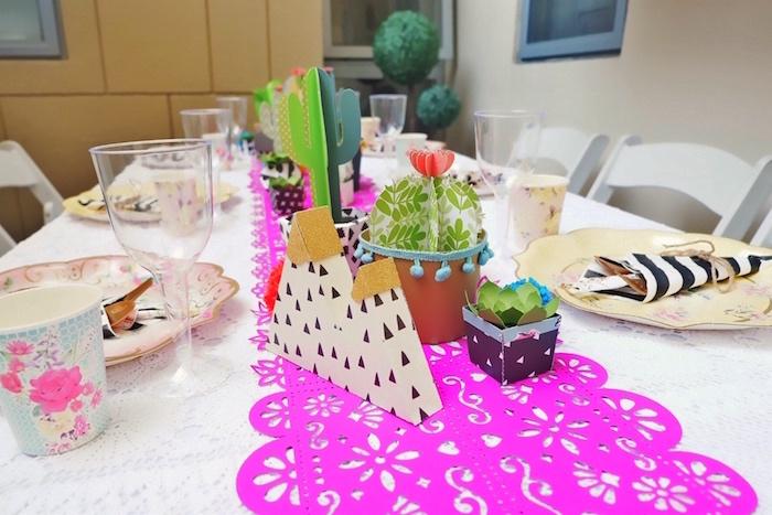 Fiesta Table from a Colorful 1st Birthday Fiesta on Kara's Party Ideas | KarasPartyIdeas.com (33)