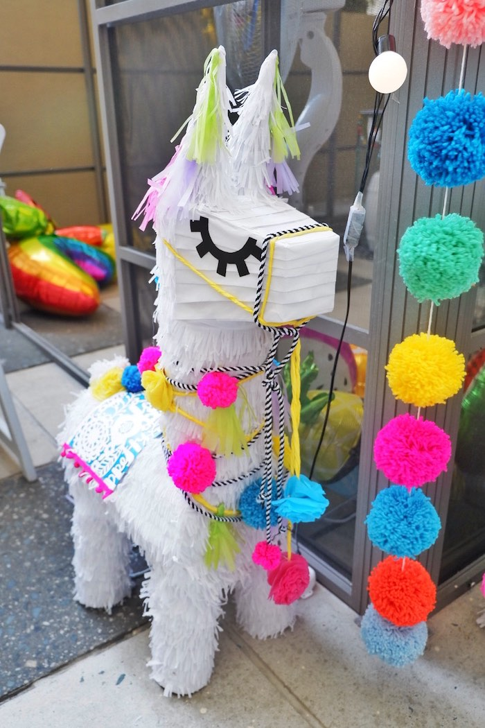 Llama Pinata from a Colorful 1st Birthday Fiesta on Kara's Party Ideas | KarasPartyIdeas.com (13)