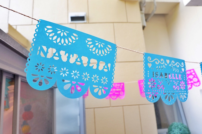 Papel picado banner from a Colorful 1st Birthday Fiesta on Kara's Party Ideas | KarasPartyIdeas.com (9)