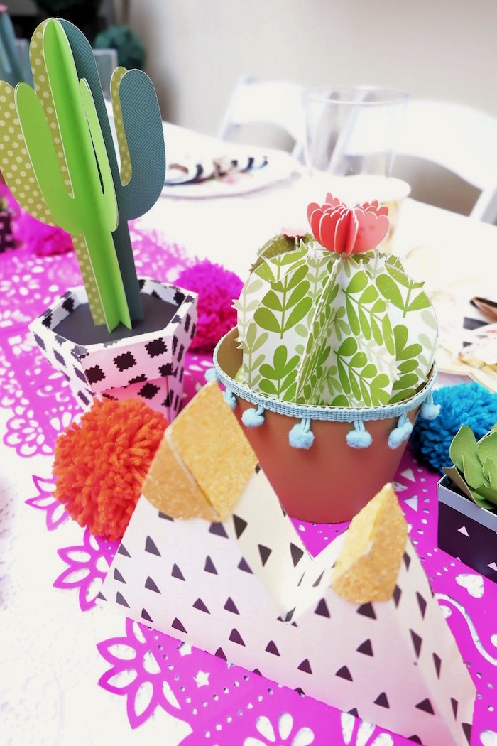 Fiesta-inspired Decorations from a Colorful 1st Birthday Fiesta on Kara's Party Ideas | KarasPartyIdeas.com (32)