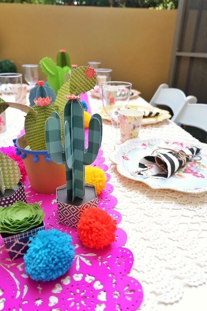 Fiesta Table Decor from a Colorful 1st Birthday Fiesta on Kara's Party Ideas | KarasPartyIdeas.com (29)