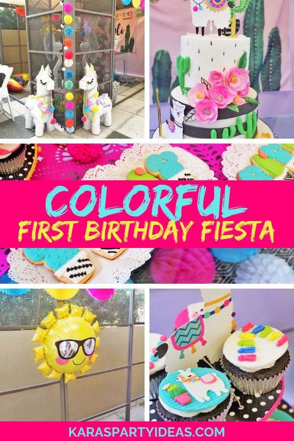 Colorful 1st Birthday Fiesta via Kara's Party Ideas - KarasPartyIdeas.com