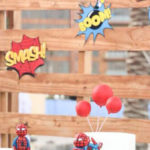 Comic Book Pop Art Spider Man Birthday Party on Kara's Party Ideas | KarasPartyIdeas.com (2)
