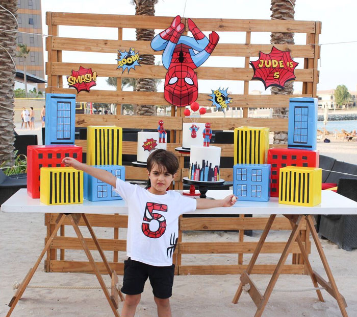 SpiderMan Themed Dessert Table from a Comic Book Pop Art Spider Man Birthday Party on Kara's Party Ideas | KarasPartyIdeas.com (4)