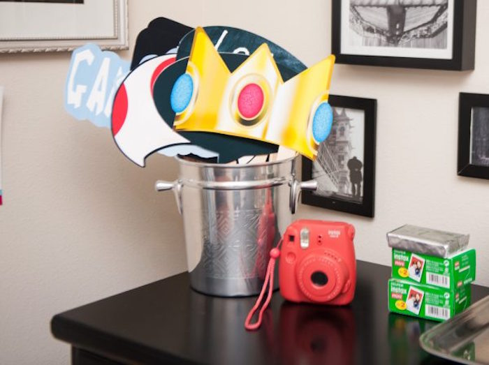 Super Mario Bros Photo Booth Props from a DIY Super Mario Bros Birthday Party on Kara's Party Ideas | KarasPartyIdeas.com (22)