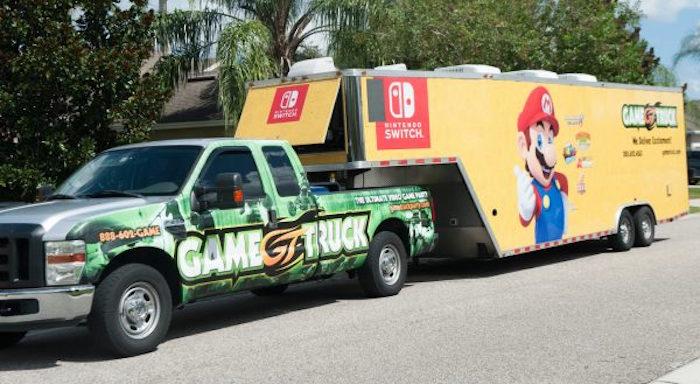 Game Truck from a DIY Super Mario Bros Birthday Party on Kara's Party Ideas | KarasPartyIdeas.com (11)