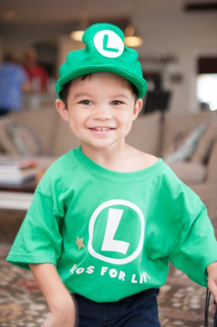 Luigi from a DIY Super Mario Bros Birthday Party on Kara's Party Ideas | KarasPartyIdeas.com (10)