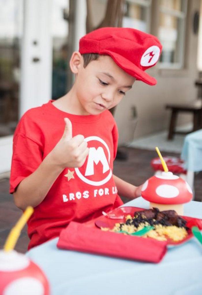 Mario from a DIY Super Mario Bros Birthday Party on Kara's Party Ideas | KarasPartyIdeas.com (7)