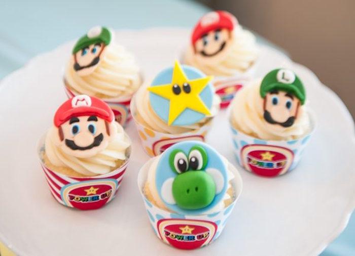 Remarkable Karas Party Ideas Diy Super Mario Bros Birthday Party Karas Personalised Birthday Cards Veneteletsinfo