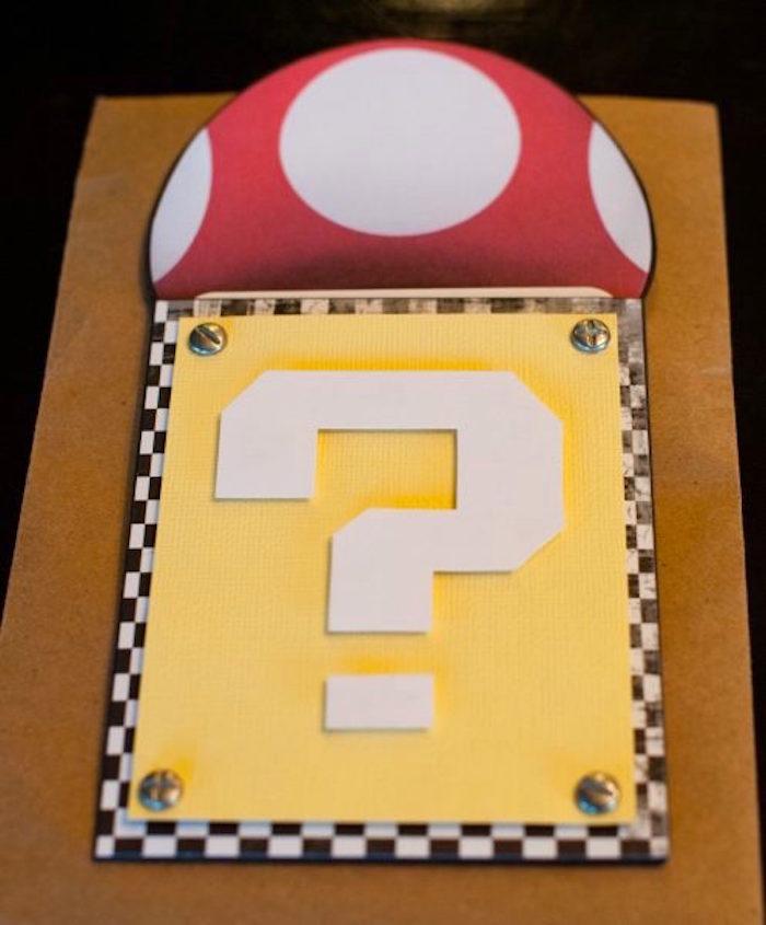 Super Mario Bros Party Invitation from a DIY Super Mario Bros Birthday Party on Kara's Party Ideas | KarasPartyIdeas.com (32)