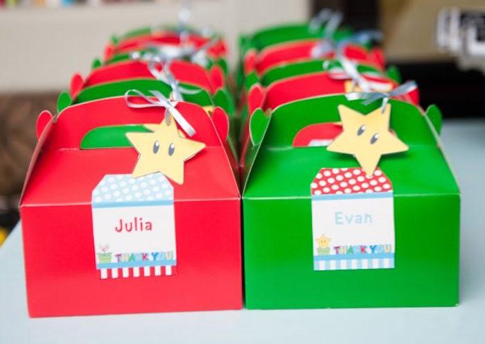 Super Mario Bros-inspired Gable Favor Boxes from a DIY Super Mario Bros Birthday Party on Kara's Party Ideas | KarasPartyIdeas.com (30)