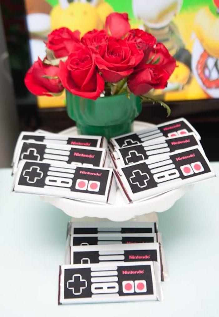 Nintendo Controller Candy Bar Labels from a DIY Super Mario Bros Birthday Party on Kara's Party Ideas | KarasPartyIdeas.com (28)