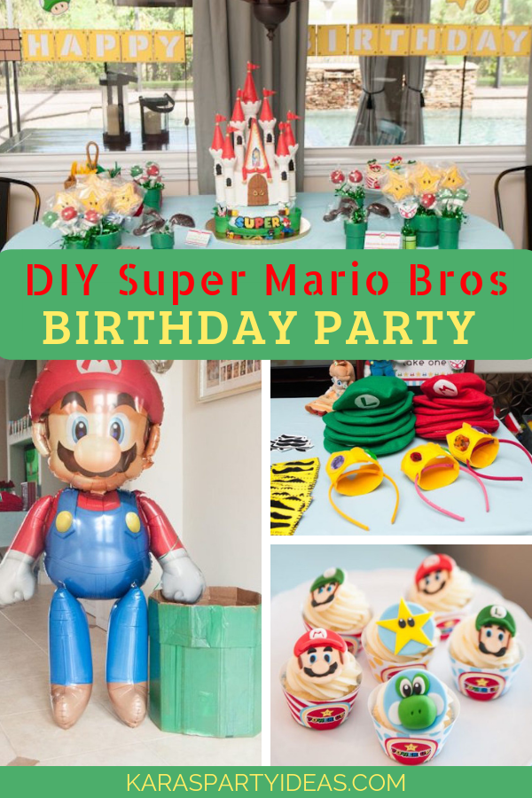 Kara S Party Ideas Diy Super Mario Bros Birthday Party Kara S Party Ideas