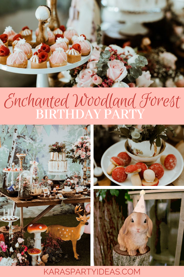 Enchanted Woodland Forest Birthday Party via Kara's Party Ideas - KarasPartyIdeas.com
