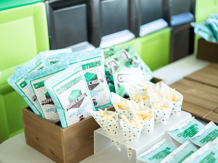 Minecraft Party Snacks + Favors from an Epic Minecraft Birthday Party on Kara's Party Ideas | KarasPartyIdeas.com (19)