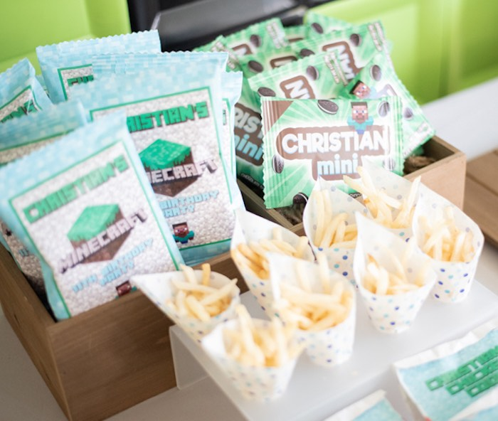 Minecraft Party Snacks + Favors from an Epic Minecraft Birthday Party on Kara's Party Ideas | KarasPartyIdeas.com (18)
