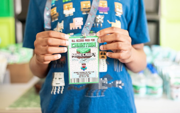 All Access Minecraft Party Pass from an Epic Minecraft Birthday Party on Kara's Party Ideas | KarasPartyIdeas.com (12)