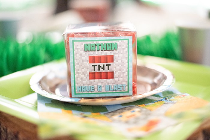 TNT Licorice Box from an Epic Minecraft Birthday Party on Kara's Party Ideas | KarasPartyIdeas.com (9)