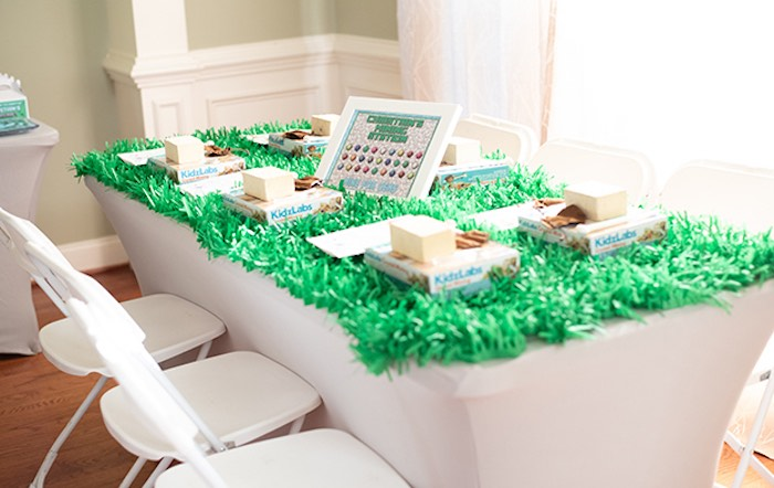 Minecraft Party + Activity Table from an Epic Minecraft Birthday Party on Kara's Party Ideas | KarasPartyIdeas.com (7)